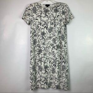 J. Jill Dresses - J. Jill Wearever Collection White Floral Dress